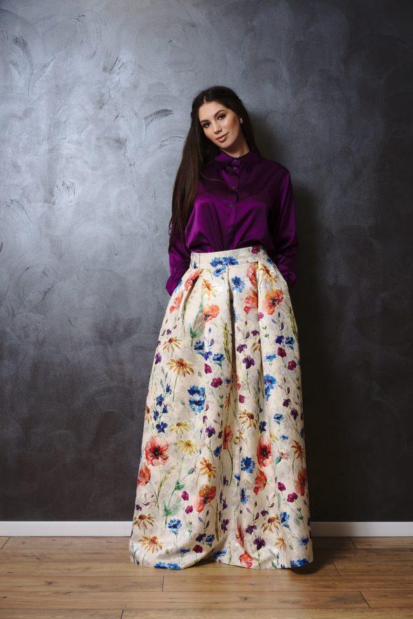 Natural silk shirt
