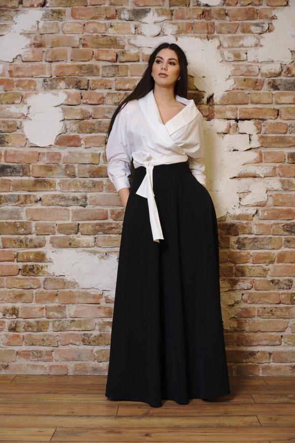 Long skirt of taffeta