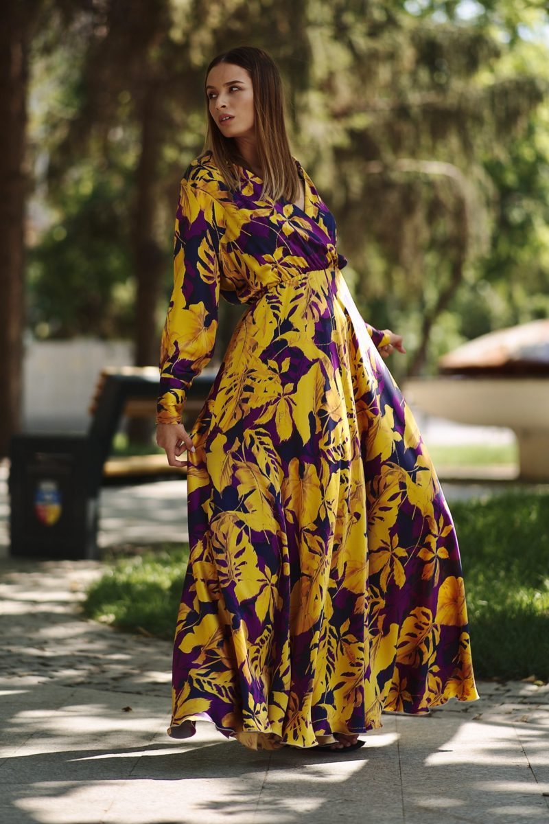 Natural silk maxi dress