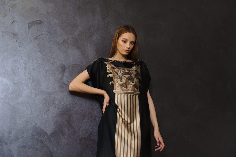 Rochie midi din mătase naturală III
