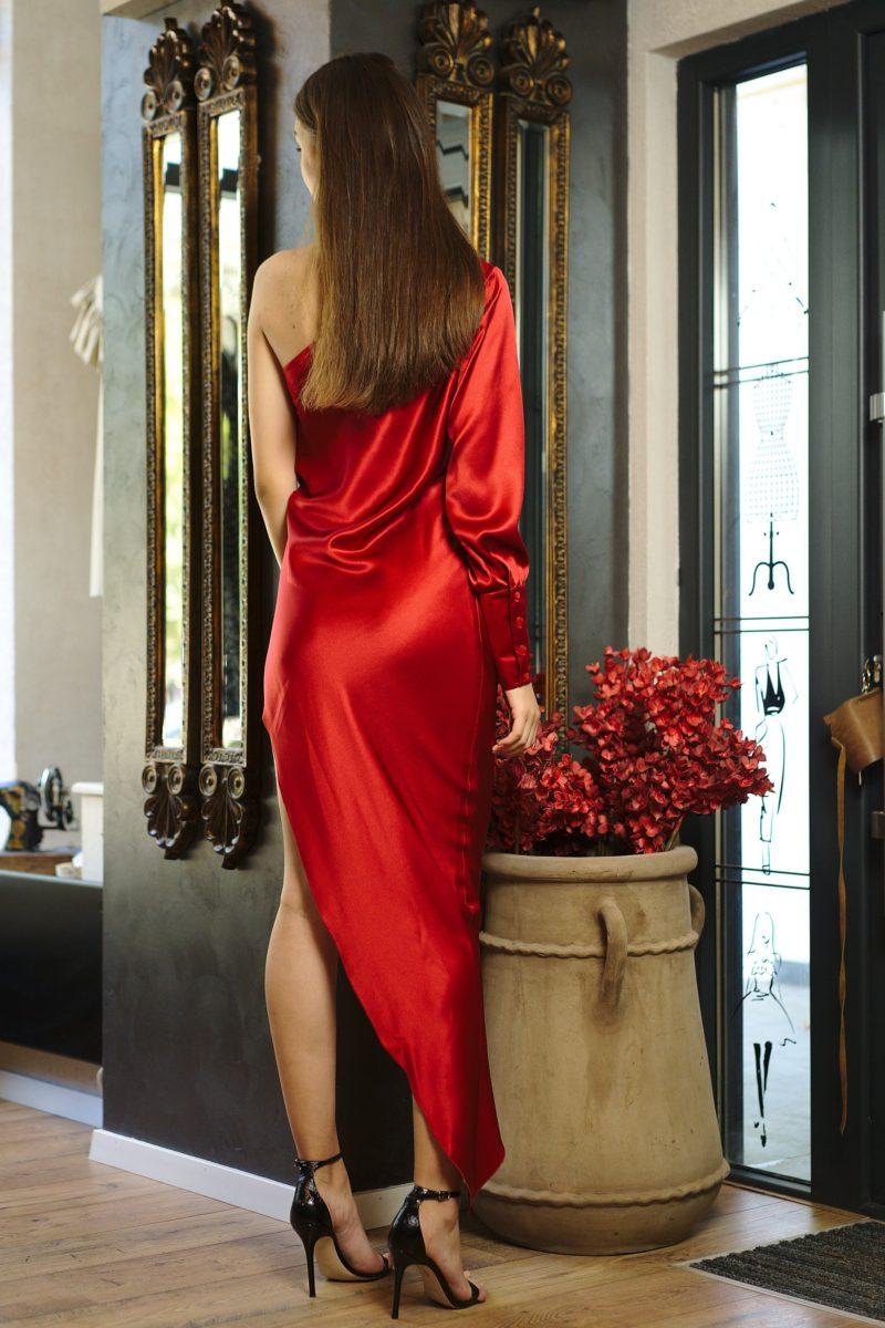 Rochie asimetrică din mătase naturală I