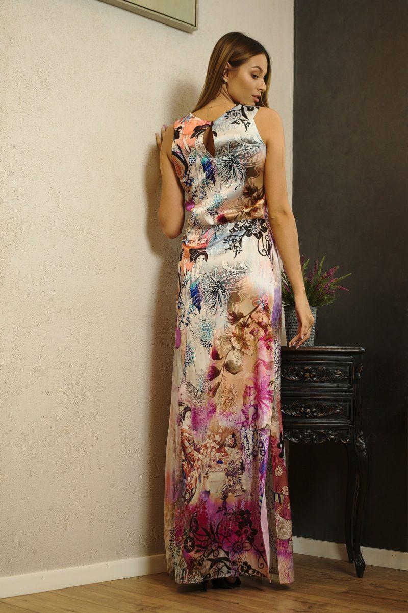 Rochie lungă dreaptă din mătase naturală III