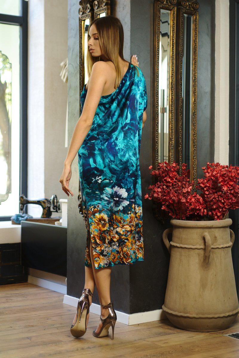 Rochie midi din mătase naturală I