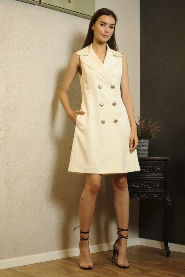 Ivory wool dress