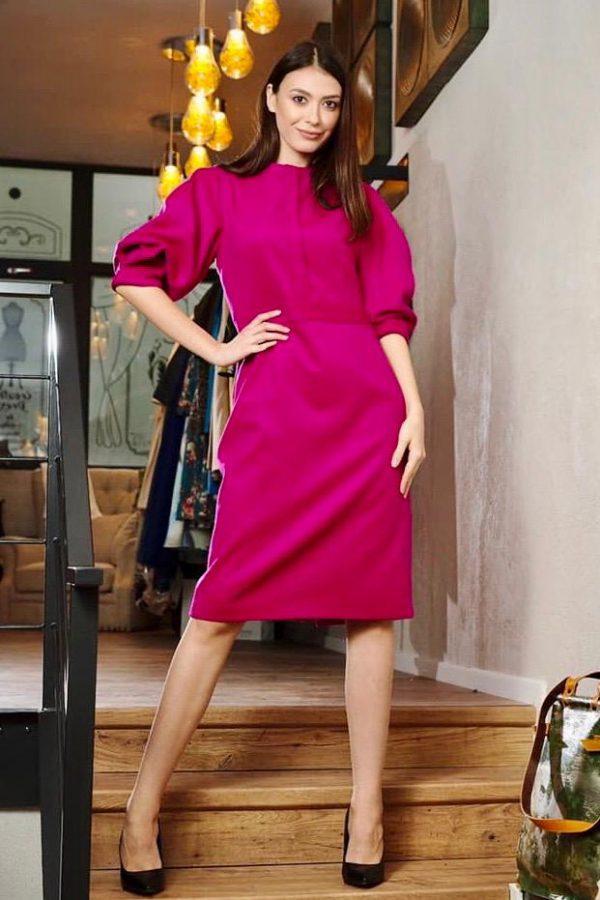 Wool and cashmere midi dress