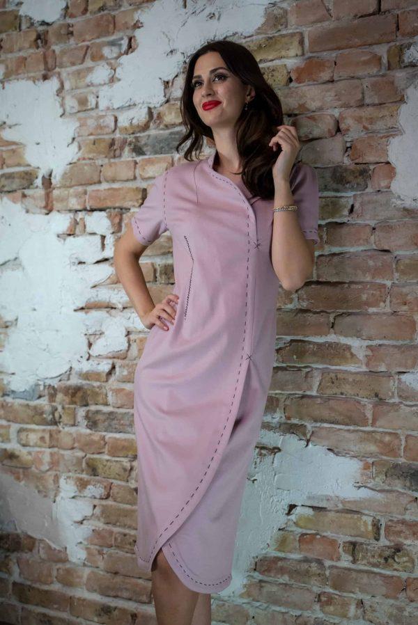 Pure cashmere lila dress